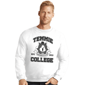 Shirts Crewneck Sweater, Unisex / Small / White Temmie College