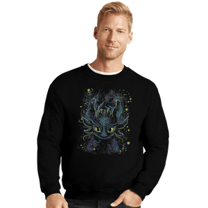 Shirts Crewneck Sweater, Unisex / Small / Black Fireflies