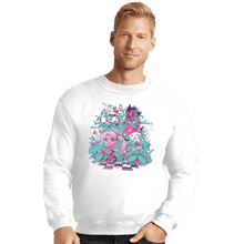 Load image into Gallery viewer, Shirts Crewneck Sweater, Unisex / Small / White A N I M E W A V E
