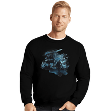 Load image into Gallery viewer, Shirts Crewneck Sweater, Unisex / Small / Black Abysswalker