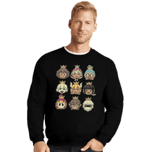 Load image into Gallery viewer, Shirts Crewneck Sweater, Unisex / Small / Black Evil Waifus