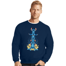 Load image into Gallery viewer, Shirts Crewneck Sweater, Unisex / Small / Navy Alien Mood Totem