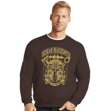 Load image into Gallery viewer, Shirts Crewneck Sweater, Unisex / Small / Dark Chocolate Beskar Blacksmith