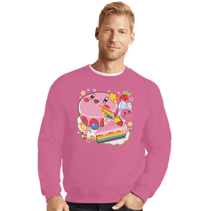 Daily_Deal_Shirts Crewneck Sweater, Unisex / Small / Azalea Kirby Cake