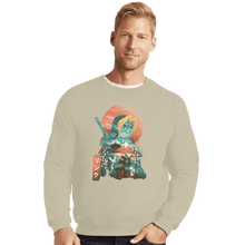 Load image into Gallery viewer, Shirts Crewneck Sweater, Unisex / Small / Sand Ukiyo Ocarina