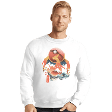 Load image into Gallery viewer, Shirts Crewneck Sweater, Unisex / Small / White Fire Ninja