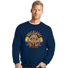 Load image into Gallery viewer, Shirts Crewneck Sweater, Unisex / Small / Navy Endeavor Gym
