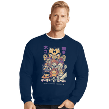 Load image into Gallery viewer, Shirts Crewneck Sweater, Unisex / Small / Navy Childhood Heroes