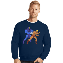Load image into Gallery viewer, Shirts Crewneck Sweater, Unisex / Small / Navy Atomic Wedgie
