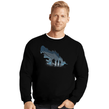 Load image into Gallery viewer, Shirts Crewneck Sweater, Unisex / Small / Black Lyanna's Feather
