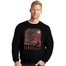 Load image into Gallery viewer, Shirts Crewneck Sweater, Unisex / Small / Black Horror Crossroads