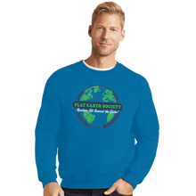 Load image into Gallery viewer, Shirts Crewneck Sweater, Unisex / Small / Sapphire Around The Globe