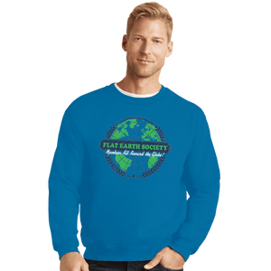 Shirts Crewneck Sweater, Unisex / Small / Sapphire Around The Globe