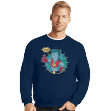 Load image into Gallery viewer, Shirts Crewneck Sweater, Unisex / Small / Navy Planet Boy