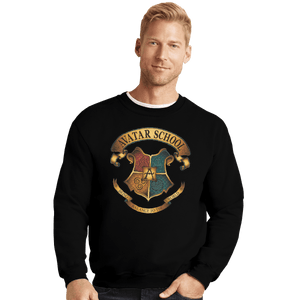 Shirts Crewneck Sweater, Unisex / Small / Black Avatar School
