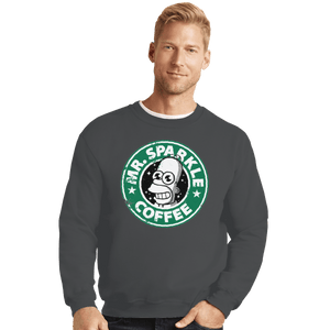 Shirts Crewneck Sweater, Unisex / Small / Charcoal Mr. Sparkle Coffee