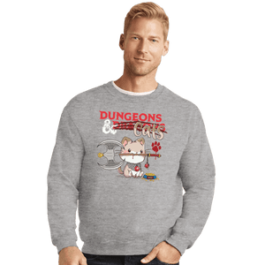 Shirts Crewneck Sweater, Unisex / Small / Sports Grey Dungeons And Cats