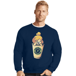 Shirts Crewneck Sweater, Unisex / Small / Navy Animal Coffee