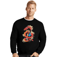 Load image into Gallery viewer, Shirts Crewneck Sweater, Unisex / Small / Black Mulan And The Dragon