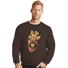Load image into Gallery viewer, Shirts Crewneck Sweater, Unisex / Small / Dark Chocolate Pika Pika Coffee