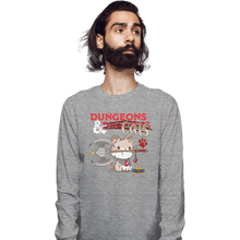 Load image into Gallery viewer, Shirts Long Sleeve Shirts, Unisex / Small / Sports Grey Dungeons And Cats