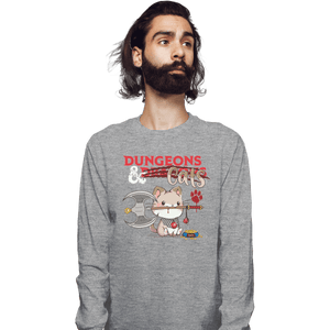 Shirts Long Sleeve Shirts, Unisex / Small / Sports Grey Dungeons And Cats