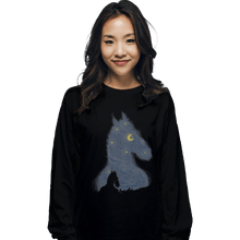 Load image into Gallery viewer, Shirts Long Sleeve Shirts, Unisex / Small / Black Hollywoo Starry Night