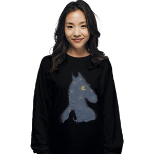 Shirts Long Sleeve Shirts, Unisex / Small / Black Hollywoo Starry Night