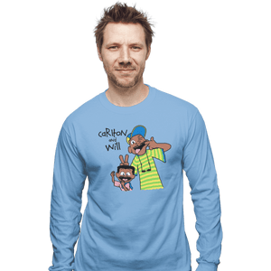 Shirts Long Sleeve Shirts, Unisex / Small / Powder Blue Carlton And Will