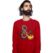 Load image into Gallery viewer, Secret_Shirts Long Sleeve Shirts, Unisex / Small / Red Bone Dragon Secret Sale