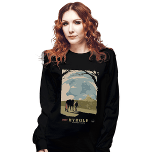 Shirts Long Sleeve Shirts, Unisex / Small / Black Epona Visit Hyrule