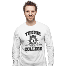 Load image into Gallery viewer, Shirts Long Sleeve Shirts, Unisex / Small / White Temmie College