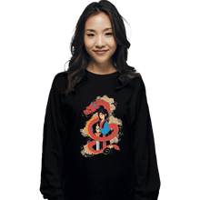 Load image into Gallery viewer, Shirts Long Sleeve Shirts, Unisex / Small / Black Mulan And The Dragon