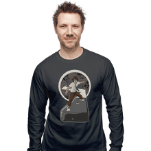 Load image into Gallery viewer, Shirts Long Sleeve Shirts, Unisex / Small / Charcoal Internet Surfer