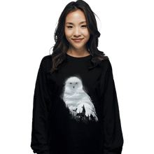Load image into Gallery viewer, Shirts Long Sleeve Shirts, Unisex / Small / Black Magical Owl