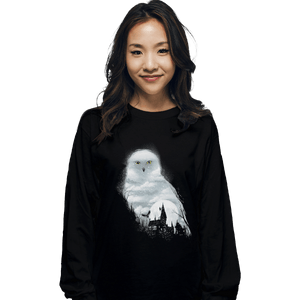 Shirts Long Sleeve Shirts, Unisex / Small / Black Magical Owl
