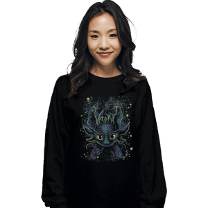 Shirts Long Sleeve Shirts, Unisex / Small / Black Fireflies