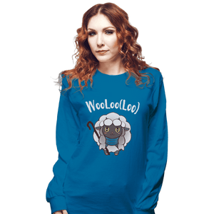 Shirts Long Sleeve Shirts, Unisex / Small / Sapphire Age Of Wooloo