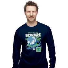 Load image into Gallery viewer, Shirts Long Sleeve Shirts, Unisex / Small / Navy Beware Of Chomp Chomp