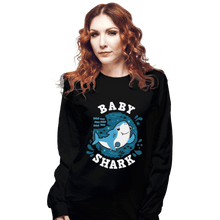 Load image into Gallery viewer, Shirts Long Sleeve Shirts, Unisex / Small / Black Cute Baby Shark