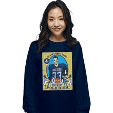 Load image into Gallery viewer, Shirts Long Sleeve Shirts, Unisex / Small / Navy Al Bundy Trading Card