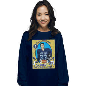 Shirts Long Sleeve Shirts, Unisex / Small / Navy Al Bundy Trading Card