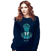 Load image into Gallery viewer, Shirts Long Sleeve Shirts, Unisex / Small / Navy The Leader