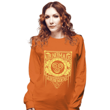 Load image into Gallery viewer, Shirts Long Sleeve Shirts, Unisex / Small / Orange Air Nomads