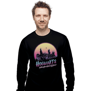 Shirts Long Sleeve Shirts, Unisex / Small / Black Old School Of Magic