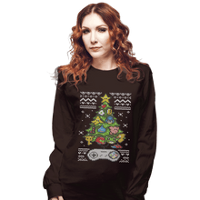 Load image into Gallery viewer, Shirts Long Sleeve Shirts, Unisex / Small / Dark Chocolate A Classic Gamers Christmas