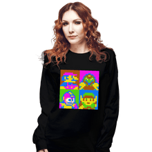 Load image into Gallery viewer, Shirts Long Sleeve Shirts, Unisex / Small / Black Pop NES