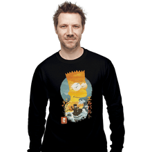 Load image into Gallery viewer, Shirts Long Sleeve Shirts, Unisex / Small / Black Bart Ukiyoe