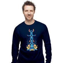Load image into Gallery viewer, Shirts Long Sleeve Shirts, Unisex / Small / Navy Alien Mood Totem