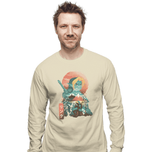 Load image into Gallery viewer, Shirts Long Sleeve Shirts, Unisex / Small / Natural Ukiyo Ocarina
